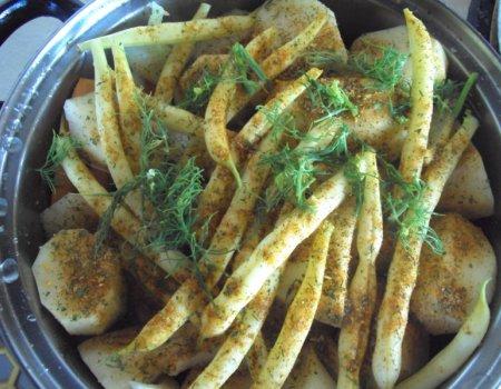 Parowane warzywa