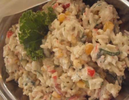 Krabowa z ryżem