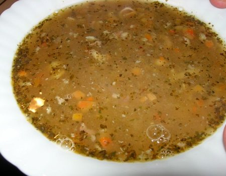 Zupa cebulowa z grznkami