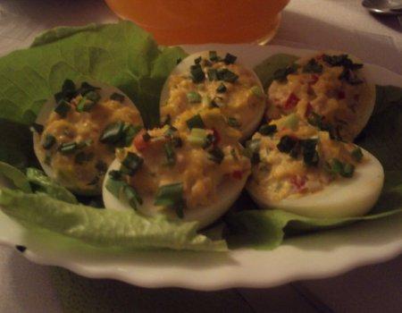 Faszerowane jajeczka wielkanocne