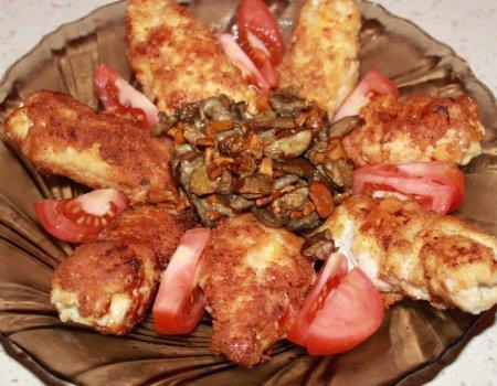 Dewolaje z serem i kurkami