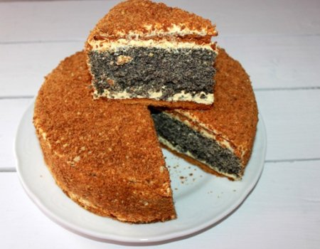 Makowo-miodowe ciasto