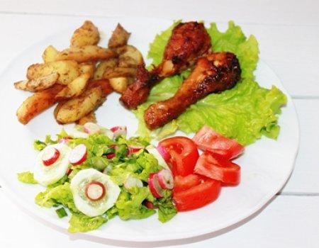 Kurczak z zapiekanymi ziemniaczkami