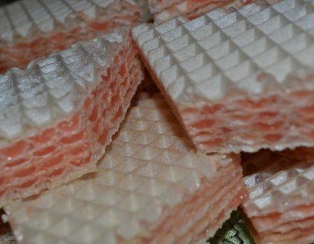 Wafle z masą śmietanowo-galaretkową