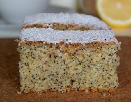 Lekkie ciasto cytrynowe z makiem