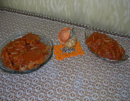 Ryby w pomidorach