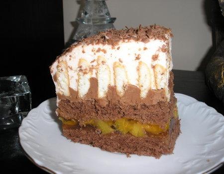 Ciasto brzoskwiniowo-nugatowe