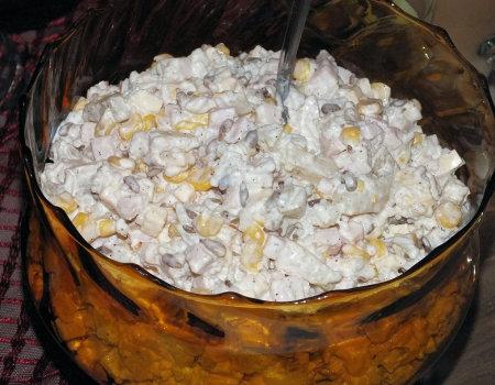 Sałatka ryżowa z prażonym słonecznikiem