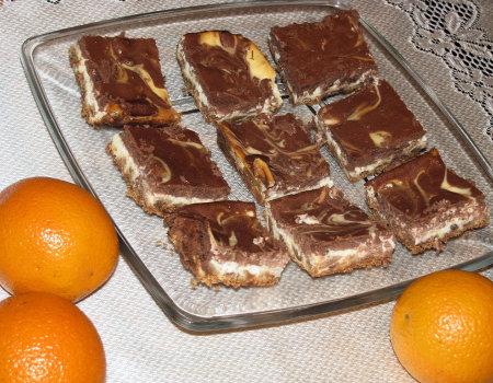 Świąteczny sernik pomarańczowo – czekoladowy