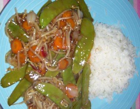 Warzywa ostro - slodkie po chinsku