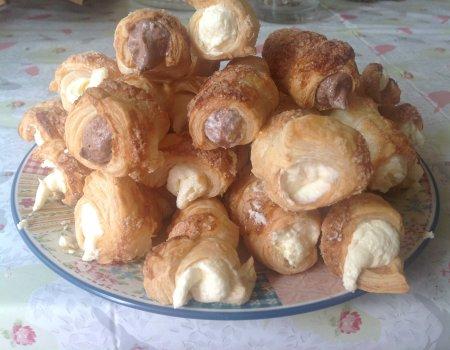 Rurki z kremem z ciasta francuskiego - przepis dla leniwych