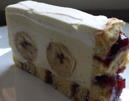 Ciasto na roladzie z bananami