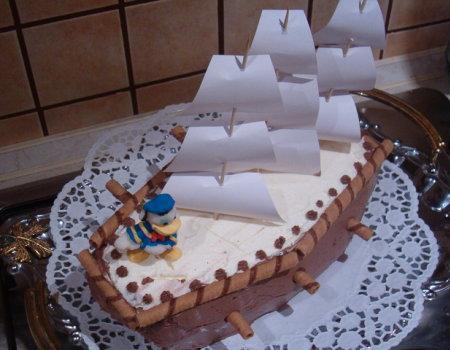 Tort statek - urodzinowy