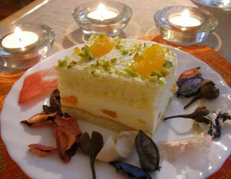 Ciasto z masą serową i mandarynkami