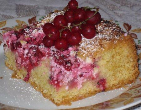 Ciasto serowo porzeczkowe