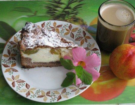 Ciasto śliwkowe z masą grysikowo-śmietanową