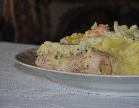 Zawijańce z kurczaka w sosie