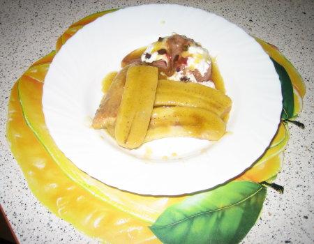 Deser bananowy z lodami