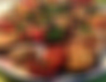 Sałatka z bakłażanów i pomidorów