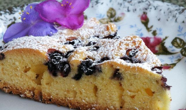 Ciasto na oleju z jagodami