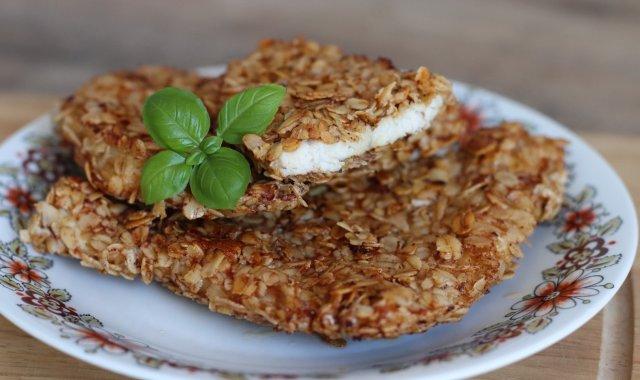 Filet z kurczaka w panierce z płatków owsianych