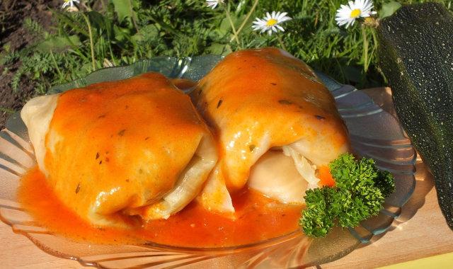 Gołąbki z cukinią i mielonym mięsem
