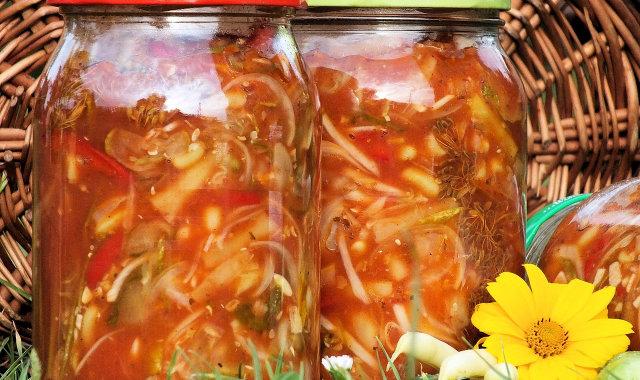 Ogórki z fasolką szparagową
