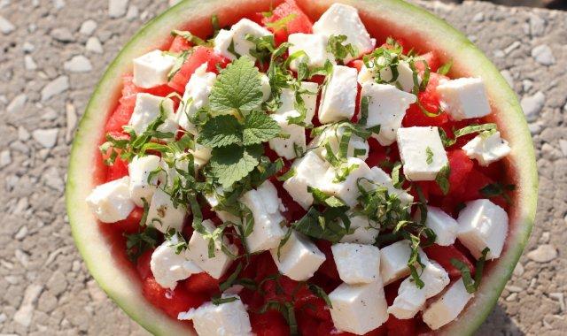 Sałatka z arbuza i sera Feta