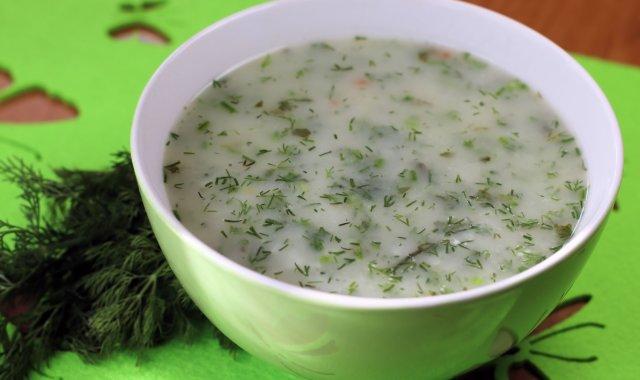 Zupa koperkowa z ryżem