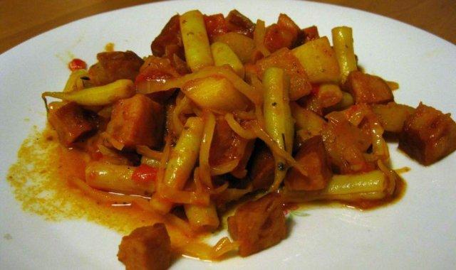 Szybkie danie z fasolką szparagową