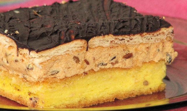 Ciasto z masą krówkową i słonecznikiem