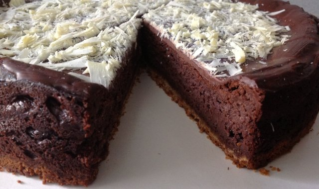 Torcik serowo-czekoladowy