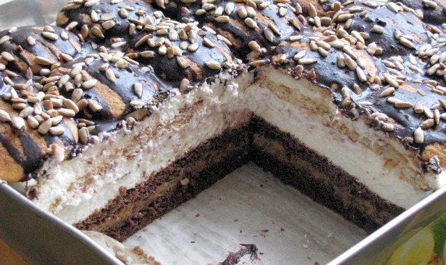 Przepyszne ciasto toffi ze śmietanką i słonecznikiem
