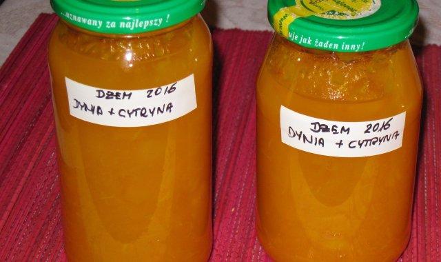 Dżem z dyni i cytryny