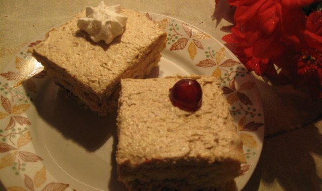 Ciasto z kremem orzechowym