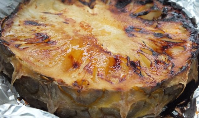 Imbirowy ananas z grilla