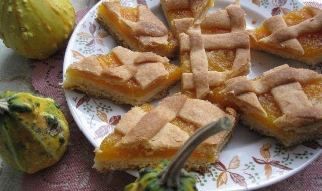 Kruche ciasto z dynią i nutką pomarańczy