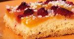 Ciasto z dynią i malinami