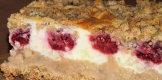 Ciasto z mas� gruszkow� i budyniow� na kruchym pe�noziarnistym spodzie