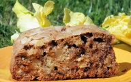 Cynamonowe ciasto z jab�kami i s�onecznikiem