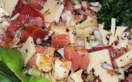 Szybka sa�atka serowa z �ososiem