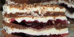 Ciasto tortowe z mas� �mietankowo-serow� i galaretk�