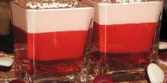 Galaretkowo-truskawkowy deser na Walentynki