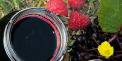 Syrop z owoc�w czarnego bzu i malin