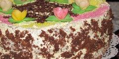 Tort kakaowy z mas� cha�wow�