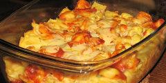 Zapiekanka makaronowa z pomidorowym sosem