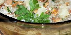 Zupa ziemniaczana z kurkami