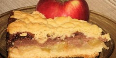 Ciasto jabłkowo-gruszkowe ze śmietaną