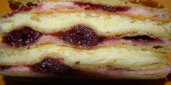 Ciasto z wiśniami i masą budyniową