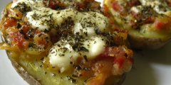 Smaczne zapiekane ziemniaki (tosty)
